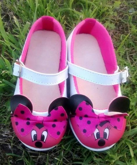 Zapatos Guillerminas Minnie Fiesta Cumpleaños Niñas Nenas