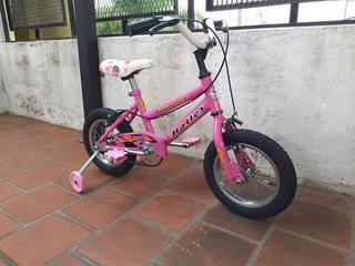 Bicicleta Rosa Halley Rodado 12 Como Nueva Y Lista Para Usar