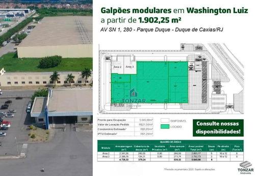 Galpão Modular Para Locação, Condomínio Fechado, Parque Boa Vista Ii, Duque De Caxias/rj. - Ga0494