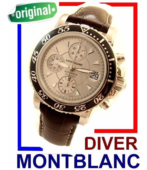Montblanc 7034 Cronógrafo Auto. Sport Diver Autêntico!