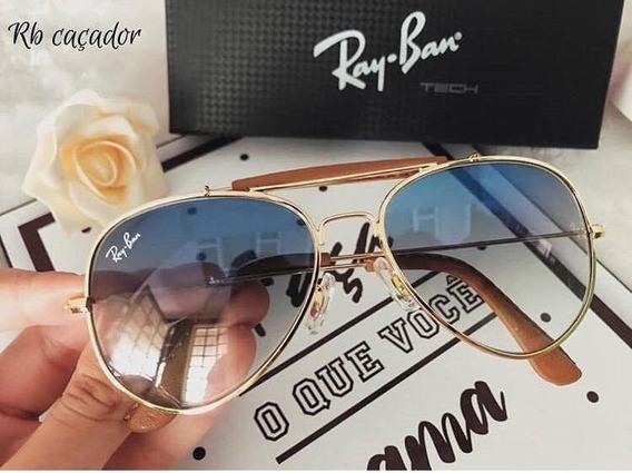 Óculos De Sol Caçador Ray Ban Lente Cristal Unissex