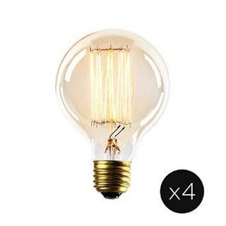 Juego De 4 Vintage Midwood G25 Filamentos Bulbos, 40w (e26)