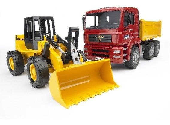 Juguetes Bruder Man Tga Construction Truck And Articulat