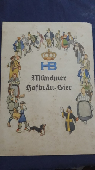 Carta De Restaurante Alemán, Münchner Hofbräu-bier, Antigua