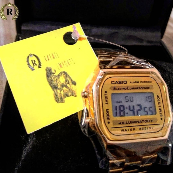 Relógio Feminino Dourado Cód: 123