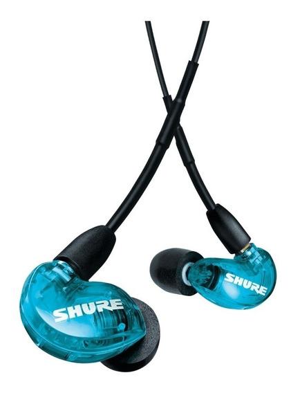 Fone de ouvido sem fio Shure SE215 azul