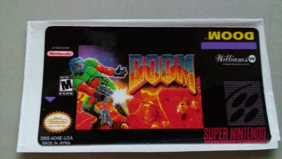 Label Doom Snes Super Nintendo