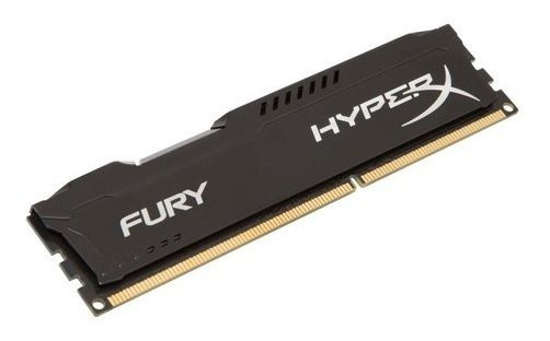 Memoria Ram 4gb Kingston Hyperx Fury 1333mhz Ddr3 Cl9 Dimm - Black (hx313c9fb/4)
