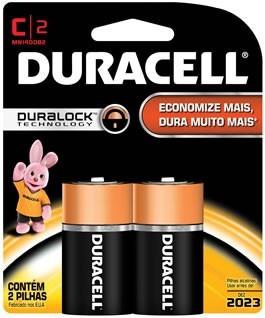 Pilha Alcalina Duracell C * Duralock * Original *