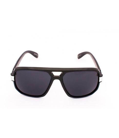 Óculos De Sol Drop Me Las Quadrado Mascara Preto Brilho -