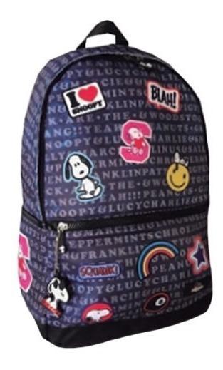 Mochila Snoopy Back To School Snp5301 Patchworks Tio Musa