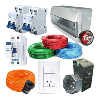 Kit Instalación Domiciliaria Cables Jeluz Sica Caja Full!!!