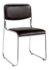 Cadeira Escritório Antuérpia Couro Pu Base Fixa Empilhável