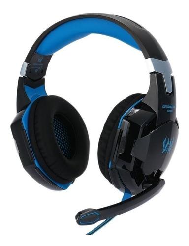 Imagen 1 de 9 de Auriculares Gamer Con Micrófono Y Led