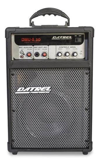 Caixa Som Amplificada Microfone Guitarra Falante 8 50w Rms