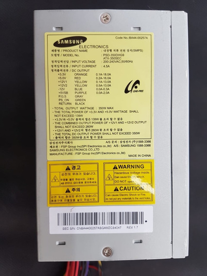 Fonte Atx Samsung Psd-350dhg9 350w