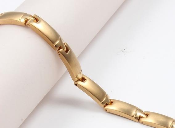 Pulseira Bracelete Feminino Imãs Neodímio Banho 18k