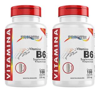 2 Vitamina B6 ( Piridoxina ) 100 Caps 250 Mg (200 Caps )