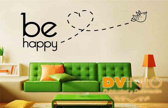 Vinilo Decorativo - Be Happy