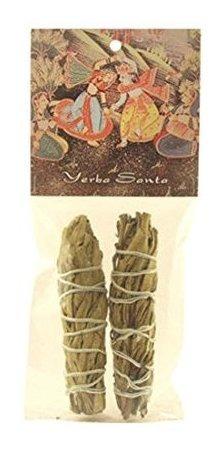 Manchas De Hierbas  Yerba Santa Smudge Stick  2 Mini Paquete