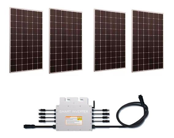Kit 4 Paneles Solares 340w Con Microinversor 1400w Cfe