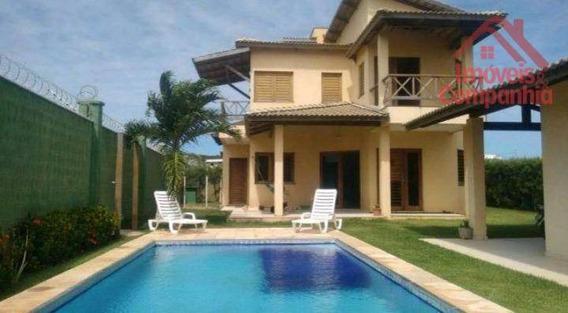 Casa Com 3 Dormitórios À Venda, 250 M² Por R$ 510.000,00 - Praia De Cumbuco - Caucaia/ce - Ca0308