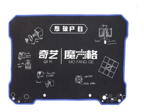Imagem 1 de 5 de Tapete Qiyi Para Cubo Mágico Mat Preto Pronta Entrega