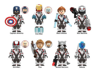 Pack 8 Figuras Avengers Endgame Compatible Con Lego