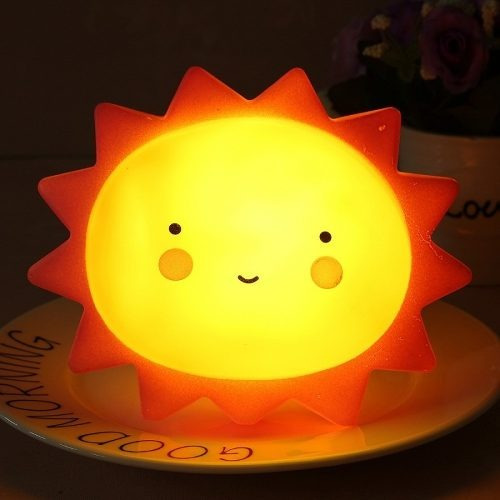 Luminária Mesa Abajur 10un Sol Infantil Led Decoração Festa