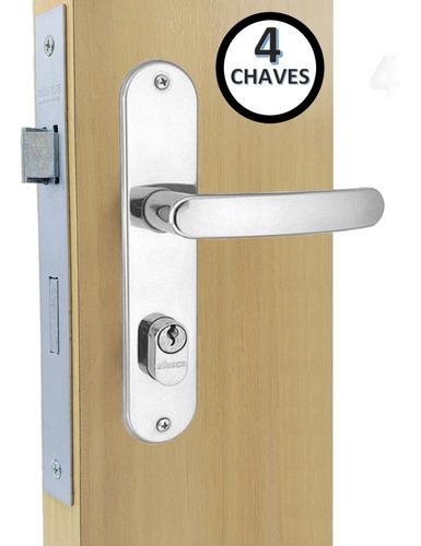 Fechadura Porta Ext. E Sala 2600/71  Espelho C/ 4 Chaves