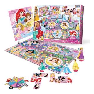 4 Juegos De Mesa En 1 Princesas De Disney Domino Recorrido