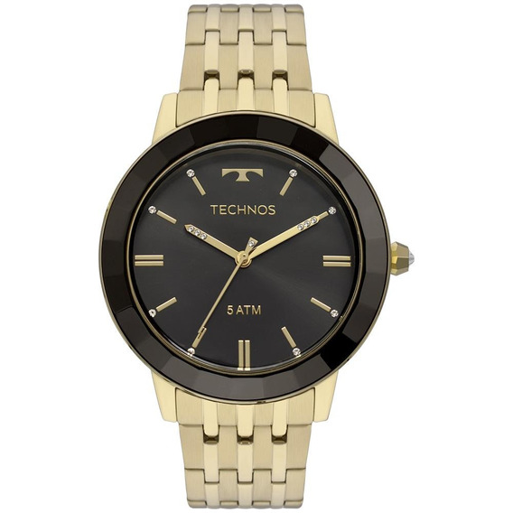 Relógio Technos Feminino Crystal Dourado Vh31aab/4p
