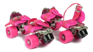 Patin Metal Rosa Extensible Talle 28a41 / Open-toys 125 Ea