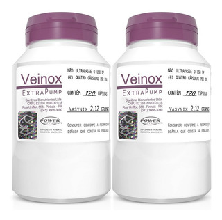 2x Vasodilatador Veinox 120 Capsulas - Power Supplements