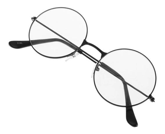 Óculos Armação Vintage Unissex Retrô Com Lente Transparente