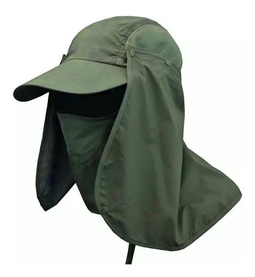 Gorro Sol Protección Cuello Uv Pava Solapa Sombrero Cachucha
