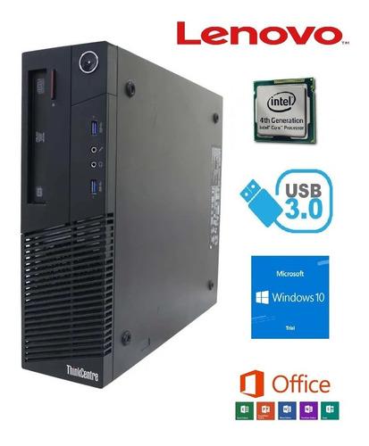Imagem 1 de 3 de Cpu Lenovo M93p - Intel I5 4570 - 4gb Ram - Hd Sata 500gb