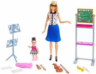 Barbie Maestra De Musica Con Estudiante