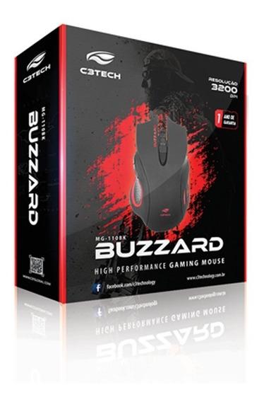 Mouse Gamer Usb Buzzard Mg-110bk Preto C3t