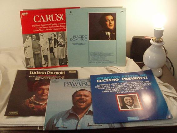 D.long Play Pavarotti Caruso P. Domingo Lote 1