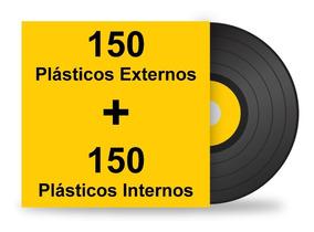 300 Plásticos Interno Externo. Proteção Para Lp Disco Vinil