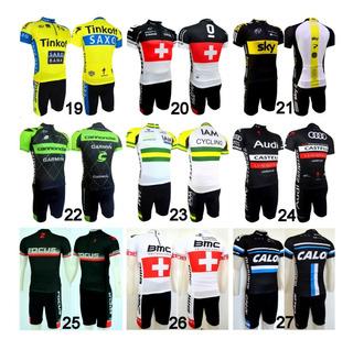 Conjunto Roupa De Ciclismo (camisa+bermuda) P Ao Ggg