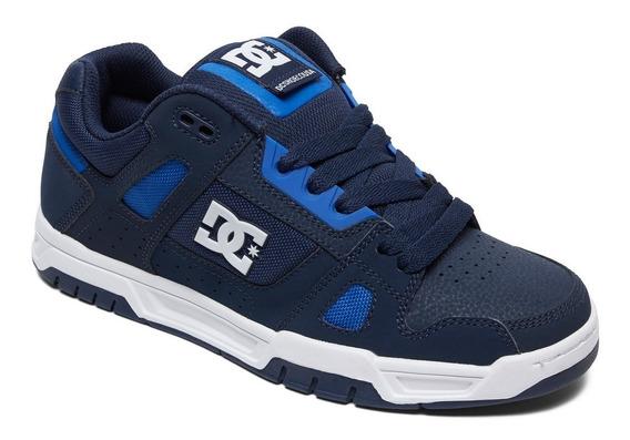 Zapatillas Dc Shoes Modelo Stag Azul Coleccion 2020