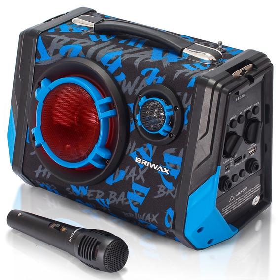 Caixinha De Som Bluetooth 65w Fm Muito Potente Leds Colorido