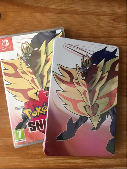 Pokemon Shield - Lacrado Com Steelbook