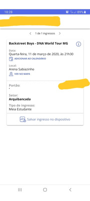 Ingresso E-ticket Para Show Do Backstreet Boys Em Uberlândia