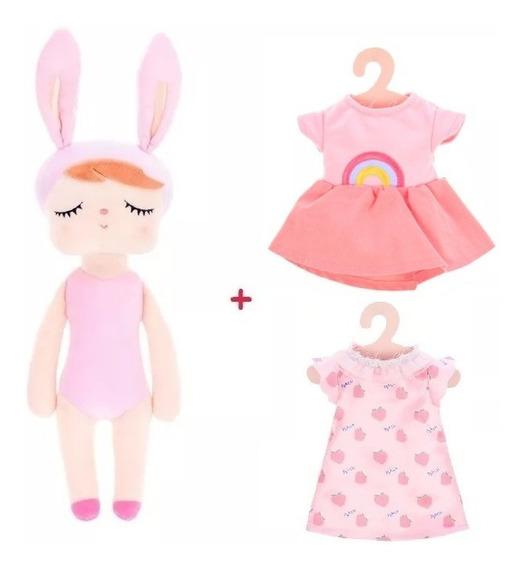Boneca Metoo Doll Troca De Roupa + 2 Roupinhas Original