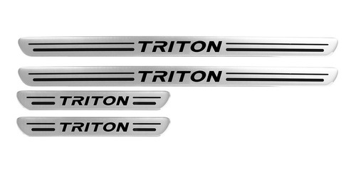 Soleira Resinada Triton 02 03 04 05 06 07 A 12 Aço Escovado