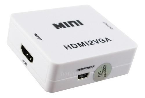 Adaptador Conversor Convertidor Hdmi A Vga Con Audio 1080p ®