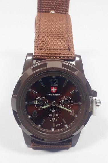 Relógio Barato Masculino Gemius Army Brad Pitt Pulseira Lona